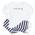 I crawl the line Baby Pajamas