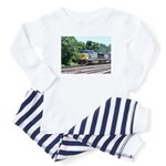 CSX Q190 Doublestack Train Baby Pajamas