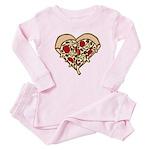 Pizza Heart Infant Bodysuit