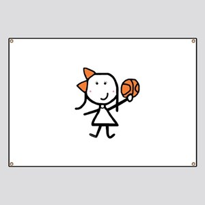 Girl & Basketball Banner