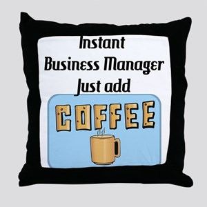 Business Mgr Throw Pillow