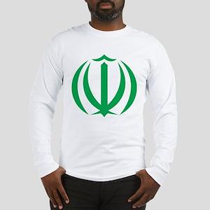 Iran Coat Of Arms Long Sleeve T-Shirt