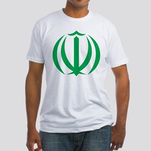 Iran Coat Of Arms Fitted T-Shirt