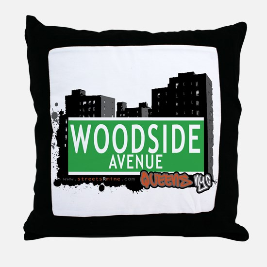 WOODSIDE AVENUE, QUEENS, NYC Throw Pillow