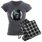 Mobile Phone Women's Charcoal Pajamas