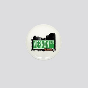 VERNON BOULEVARD, QUEENS, NYC Mini Button