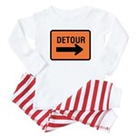 Detour Sign - Baby Pajamas