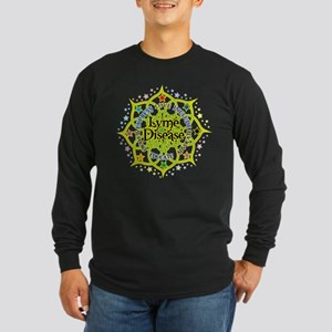 Lyme Disease Lotus Long Sleeve Dark T-Shirt