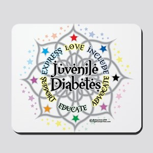 Juvenile Diabetes Lotus Mousepad
