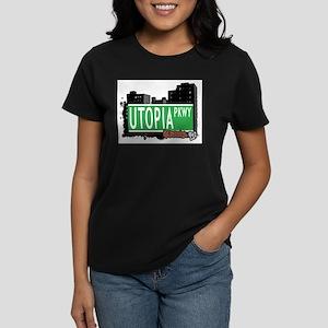 UTOPIA PARKWAY, QUEENS, NYC Women's Dark T-Shirt