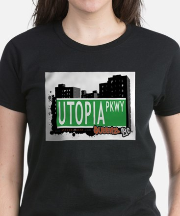 UTOPIA PARKWAY, QUEENS, NYC Women's Dark T-Shirt