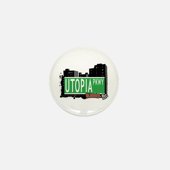 UTOPIA PARKWAY, QUEENS, NYC Mini Button