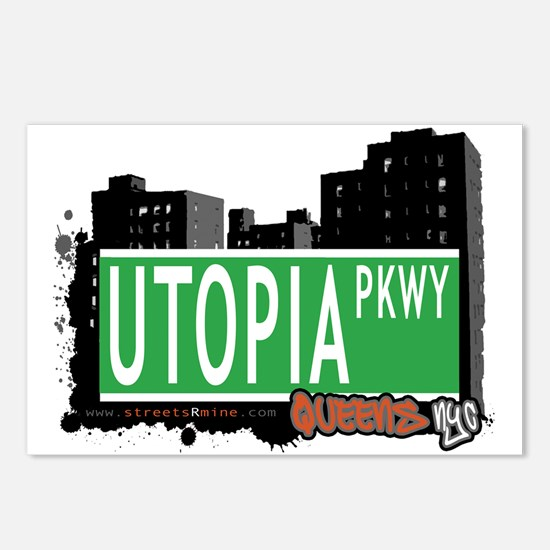 UTOPIA PARKWAY, QUEENS, NYC Postcards (Package of