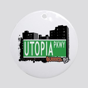 UTOPIA PARKWAY, QUEENS, NYC Ornament (Round)