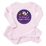 eggs and dairy Baby Pajamas