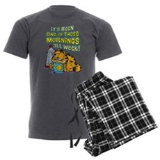 One of Those Mornings Men's Charcoal Pajamas