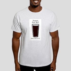 Drink Ale Ash Grey T-Shirt