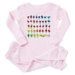 Rainbow Fingerspelled ABC Baby Pajamas