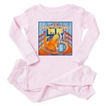 Tea for Me (Cat) Watercolor Baby Pajamas