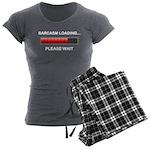 Sarcasm Loading Women's Charcoal Pajamas