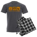 Give Thanks Men's Charcoal Pajamas