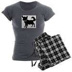 Chihuahua Women's Charcoal Pajamas
