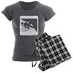 Climbing Girl Icon Women's Charcoal Pajamas