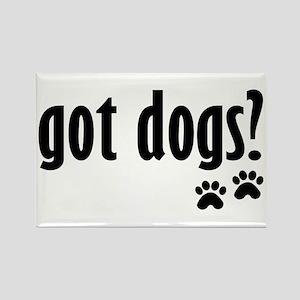 got dogs? Rectangle Magnet