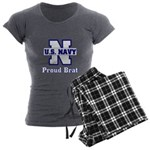 Proud Navy Brat Women's Charcoal Pajamas