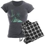 New York Souvenir Women's Charcoal Pajamas
