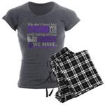 Chiari How Strong We Are Women's Charcoal Pajamas