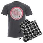 Inspirational Flying Pig Men's Charcoal Pajamas