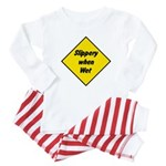 Slippery When Wet Sign 2 - Baby Pajamas
