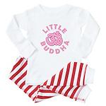 Little Buddha Yoga Symbol Baby Rompers Pink