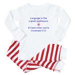 """""""Language Immersion"""" Baby Pajamas"""