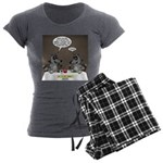 Raccoon Dining Women's Charcoal Pajamas