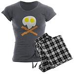 Breakfast Pirate Women's Charcoal Pajamas