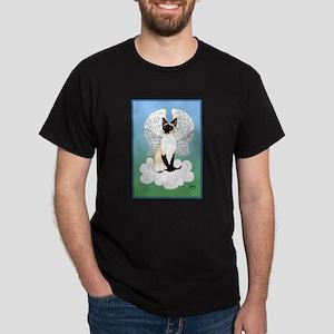 Siamese Cat Angel Dark T-Shirt