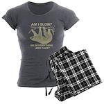 Sloth Am I Slow? Women's Charcoal Pajamas