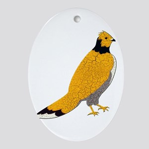 Ruffled Grouse Oval Ornament