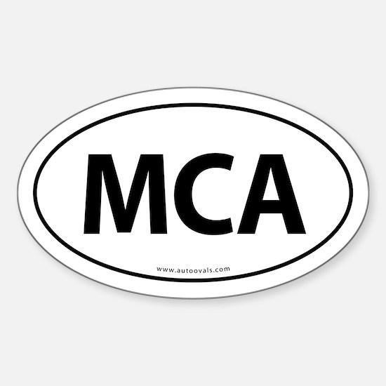 MCA Euro Style Auto Oval Sticker -White