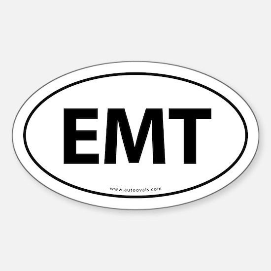EMT Euro Style Auto Oval Sticker -White