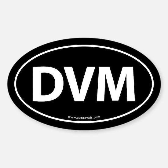 DVM Euro Style Auto Oval Sticker -Black
