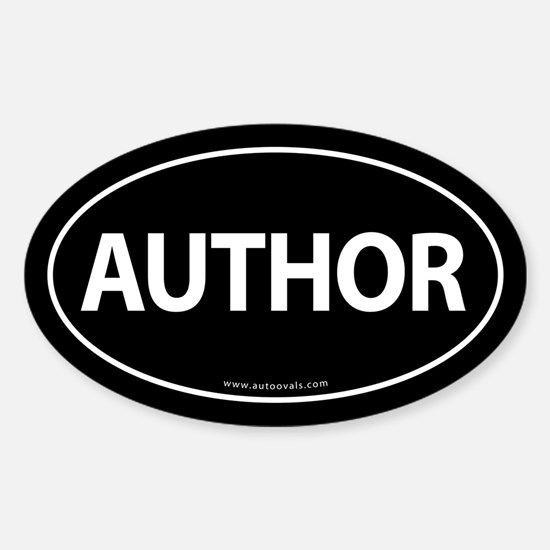 AUTHOR Euro Style Auto Oval Sticker -Black