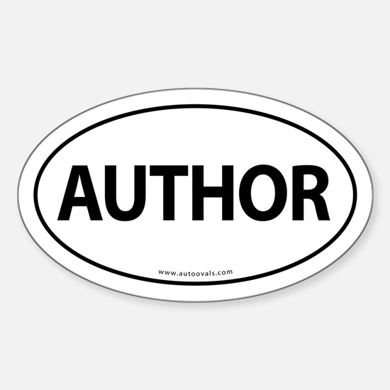 AUTHOR Euro Style Auto Oval Sticker -White