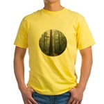 Redwood Forest Fog Yellow T-Shirt