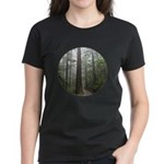 Redwood Forest Fog Women's Dark T-Shirt