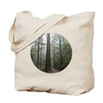 Redwood Forest Fog Tote Bag