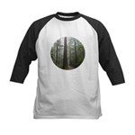 Redwood Forest Fog Kids Baseball Jersey