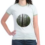 Redwood Forest Fog Jr. Ringer T-Shirt